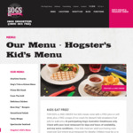 Kids Eat Free with Adults Main Meal Purchase over $20 @ Hog's Breath