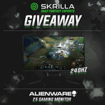 Win an Alienware 240hz Gaming Monitor from Skrilla