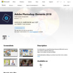 Adobe Photoshop Elements 2018 $104.96 AUD after 30% Discount @Microsoft Store Aus + Combine 20% AmEx Microsoft Store Cashback