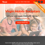 2nd Month Free with Yomojo (for Virgin Mobile Customers)