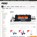 Free Lock, Pump & Water Bottle Bundle with Any Bike Purchase (Excludes Kids Bikes & Scooters) @ Reid Cycles