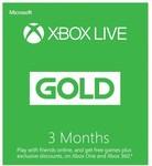 Xbox Live Gold Buy 3 Months ($34.00) Get 3 Month Bonus @ EB Games