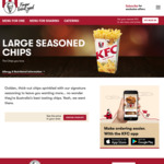 $2 Large Chips @ KFC (App Only)