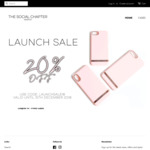20% off iPhone Cases ($28, Free Postage) @ The Social Chapter