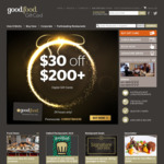 $30 off Gift Cards $200+ (Digital Gift Cards) @ Good Food Gift Card