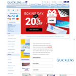20% off on Orders over $98 @ Quicklens