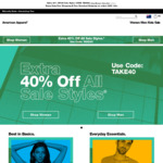 40% off Sale Items at American Apparel