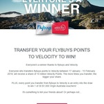 Bonus Velocity Points When You Transfer over Your Flybuys @ Velocity