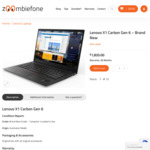 Lenovo X1 Carbon Gen 6 I8350u 8GB 256GB WQHD LTE $1780 + Delivery (Free with Pickup or Bank Transfer Payment) @ Zoombiefone