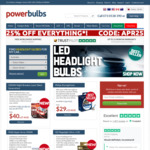 25% off All Performance Upgrade Globes and Free Shipping @ Power Bulbs