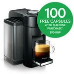 Nespresso Vertuo Black Coffee Machine $199 Delivered (Save $100) + 100 Free Capsules ($99 Value) @ Nespresso eBay