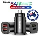 Baseus 30W USB Car Charger - 2 for $14.25, Baseus 45W Car Charger -2 for $19 + Delivery ($0 w/eBay Plus) @ Shopping Square eBay