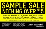 Jeanswest Sample Sale (VIC)  Nothing over $15 (Details within)