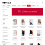 50% off All Sale Clothing + Free Shipping @ Sussan