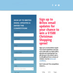Win $1,500 Worth of Gift Cards of Choice from Britex