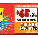 Telstra 12-Month Post Paid 60GB $65 Per Month & $500 JB Hi-Fi Gift Card - Port-in- In-Store Only @ JB Hi-Fi