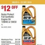 Nulon Protect Full Synthetic Engine Oil 5 litre 5W30 and 10W40 $29.99 (was $41.99) @ Costco (Membership Required)