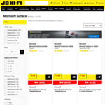 "Microsoft Surface Pro 7 i5 128GB $1139.05, Microsoft Surface Laptop 3 13.5"" i5 128GB $1291.05 @ JB Hi-Fi"