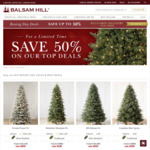 50% off Realistic Trees and Decorations + Free Delivery @ Balsam Hill