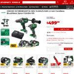 Sydney Tools Boxing Day Sale. Hikoki KC18DB12 (ST2) 36V 5.0ah/2.5ah Li-Ion Cordless Brushless 2pce Combo Kit (Plus Blower) $499