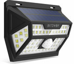 Blitzwolf BW-OLT1 Solar Power 62 LED PIR Motion Sensor Wall Light US $11.99 (~ AU $19.16 Shipped Including GST) @ Banggood