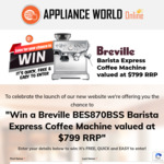 Win a Breville Barista Express Coffee Machine Worth $799 from Appliance World Online