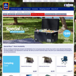 ALDI Camping Sale: Instant up Tent 4P $129, 6P $179, Onezee $49.99, Cast Iron Dutch Oven 3.4L $19.99, Camping Tools $9.99