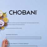 [NSW,VIC,QLD,SA,WA] Nominate a Person to Receive 1 of 50000 Free Pots of Chobani Yoghurt