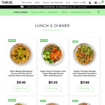 [QLD, NSW, ACT, VIC] $20 off Ready Made Meals (Min Spend $100) + Free Delivery @ Thrive