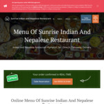 [SA] Free Indian/Nepalese Food - Pick up Only @ Sunrise Restaurant (Plympton)