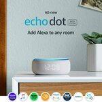 Amazon Echo Dot (3rd Gen) Smart Speaker with Clock (Sandstone Fabric) $69 Delivered @ Amazon AU