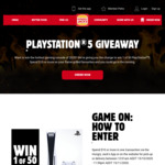 Win 1 of 50 PlayStation 5 from Hungry Jack's