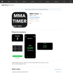 [iOS] MMA Timer - MMA Match Timer (Free) @ Apple Store