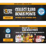 Bonus flybuys Points: 2000 with $50 Online Spend; Additional 2000 with $100 Online Spend on Selected Items @ First Choice Liquor