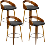 4 Wooden Swivel Bar Stools Black $381.04 Delivered @ Buyerfriendly