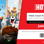 Free Small Popcorn When You Watch Selected Family Movies @ HOYTS