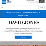 American Express Elevate Premium Card $100 Statement Credit When You Spend $100 at David Jones