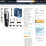 RENPHO Hair Clippers/Trimmer for Men $29.99 Shipped (Save 40%) @ AC Green via Amazon AU