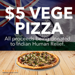 [NSW, QLD, ACT] $5 Roasted Veggie Pizza (Normally $19) Available Dine In, Pick Up and Delivery @ Rashays