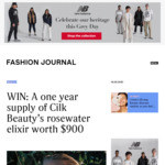Win a one-year supply of Cilk Beauty's Rosewater Elixir worth $900 from Fashion Journal