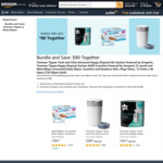 Waterwipes Unscented (12 x 60 Wipes), Tommee Tippee Nappy Bin + 3 Pack Refill $90 (Save $41.45) Delivered @ Amazon AU