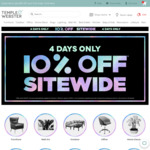 10% off $150 or More Spend + Delivery @ Temple and Webster