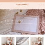30% off Storewide + $4.95 Delivery ($0 with $50 Order) @ Paper Society Stationery