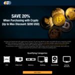 [Bitpay] 20% off ($250 Cap) with $650 Minimum Spend @ Newegg AU