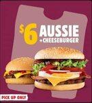 Aussie Burger + Cheeseburger $6 @ Hungry Jack's via App