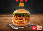 KFC Free Delivery with a Zinger Stacker Burger Purchase via Door Dash