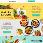 Total $110 off over 5 Boxes + Free Delivery on First Box (New Customers) @ Marley Spoon