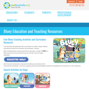 Free - 70 Bluey Teaching Activities and Curriculum Resources for Download @ Cool Australia