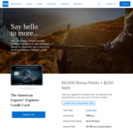 AmEx Explorer: 60,000 MR Points (Worth $300) + $200 Back ($3k Min. Spend in 3 Months) on Upgrade from AmEx Essential ($395 p.a.)