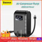 [eBay Plus] Baseus Portable Air Compressor Tyre Inflator $45.71 Delivered @ Baseus eBay